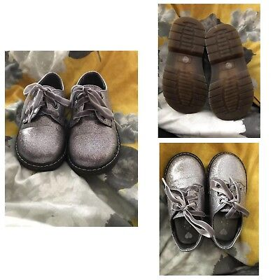 Toddler kids silver sparkly glitter party boots size 5 babies shoes girls infant