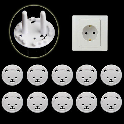 10 x Power Kid Socket Cover Baby Child Protector Guard Mains Point Plug Bear Hot