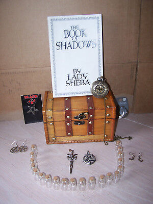 Witch's Spell/Potion Bottles/Wooden Chest/Jewellry/Book of Shadows Pagan/Wicca