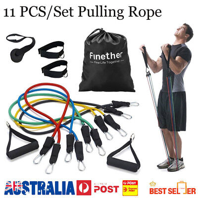 11 Pieces Fitness Resistance Rope/Bands Sport Tension Exercise Yoga Pull String