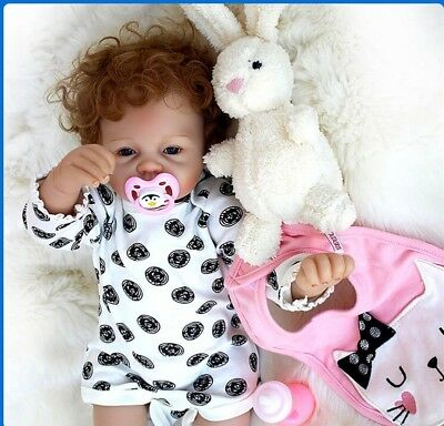 Real Life Soft Vinyl Reborn Baby Realistic Siliocne Newborn Doll Kids Xmas Gifts