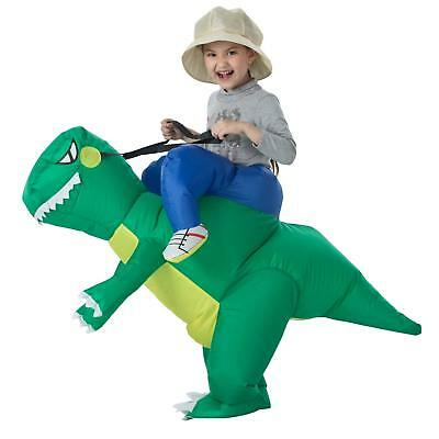 Kids Adult Inflatable T-Rex Dinosaur Halloween Dress Party Costume Dino Ride