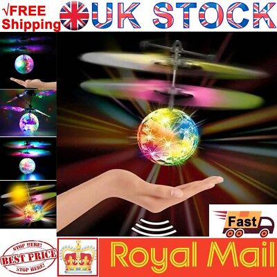 Hand Flying UFO Ball LED Mini Induction Suspension RC Aircraft Flying Toy p44