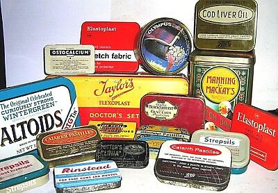 EARLY TINS - MEDICAL & REMEDY  1960/2000  click on - Select - to browse or order