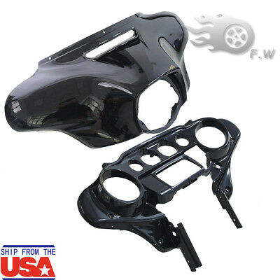 Batwing Inner + Outer Fairing Nose Front Cover For Harley Davidson Touring 14-18