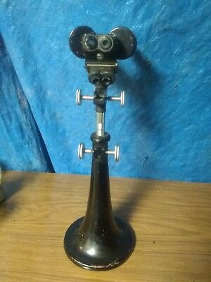 Bausch And Loam Vintage Antique Microscope With Base