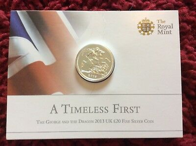 The Royal Mint - The George & The Dragon 2013 - UK £20 Fine Silver Coin