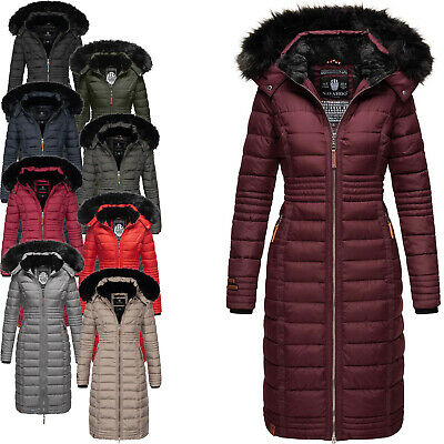 NAVAHOO DAMEN WINTERJACKE Steppjacke Winter Jacke lang Stepp
