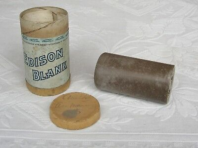 Edison Phonograph Cylinder Record BLANK ~ earlier style box label