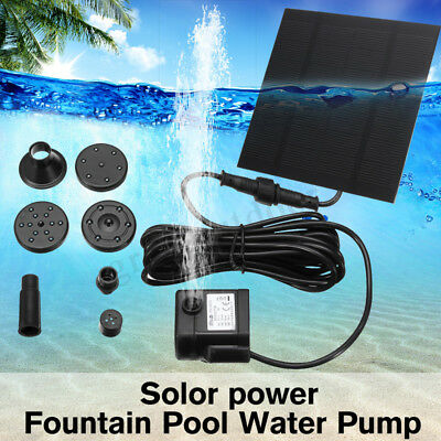 Solar Power Fountain Submersible Water Pump Pond Pool Free with filter set AU