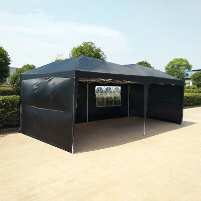 Heavy Duty 6x3 mtr FULLY WATERPROOF Pop Up Gazebo Outdoor Wedding Tent with Side
