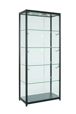 LOCKABLE DISPLAY CABINET WITH FULL DISPLAY AREA Model: S-800 BLACK