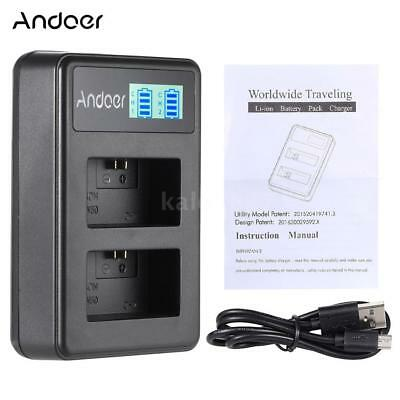 Andoer NP-FW50 LED USB Li-ion Battery Dual Charger for SONY Camera A5000 NEX-F3