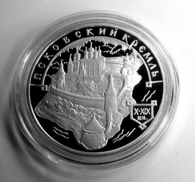 #1031 - Russland 3 Rubel 2003, Silber, 1100 Jahre Pskow, proof / pp