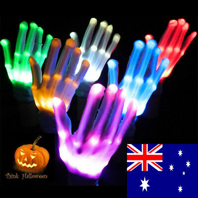 New Multi-Color Electro LED Flashing Glove Light Up Halloween Dance Rave Party