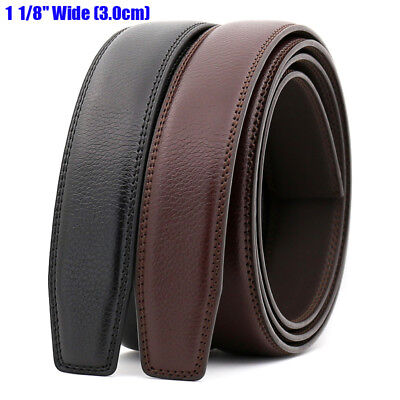 Men's Genuine Leather Automatic Strap Belt Without Buckle Waist Strap Wide3.0cm