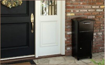Mail Drop Box Lockable Large Key Parcel Package Mailbox Security Outdoor Lock
