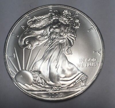 2009  1  oz American Silver Eagle Coins  (uncirculated)