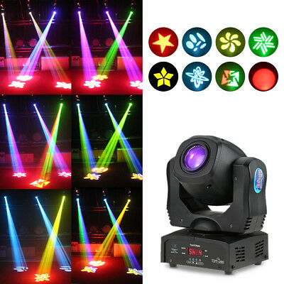 80W LED Moving Head Stage Licht Gobo Spot Lampe Bühnenbeleuchtung 9/11CH T4F7