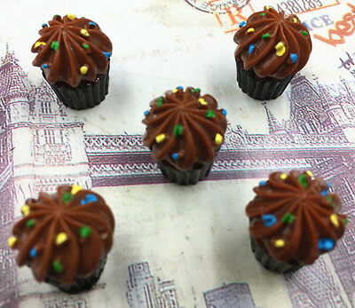DIY 5/25/50/100PCS Chocolate Cupcake Flatback Resin Cabochon Scrapbooking/Crafts