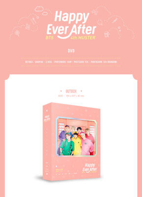 BTS 4th MUSTER Happy Ever After DVD 3Discs+Photobook+Photocard+FreeGift+Tracking