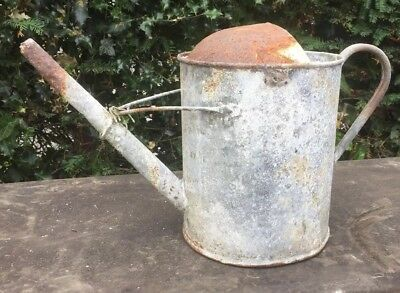 Old Galvanised Watering Can. 12 Pints.