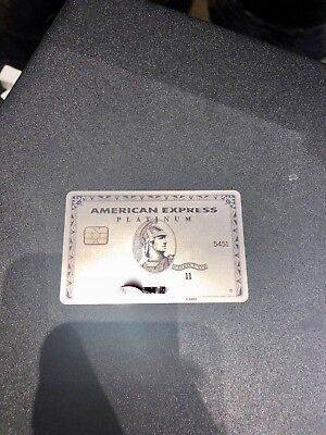 Rare Authentic American Express Platinum Card Metal Inactive