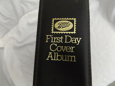 Black Boots 2 Ring First Day Cover Fdc Stamp Album With 25 Pages