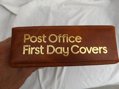 Brown Post Office 2 Ring First Day Cover Fdc Stamp Album With 20 Pages