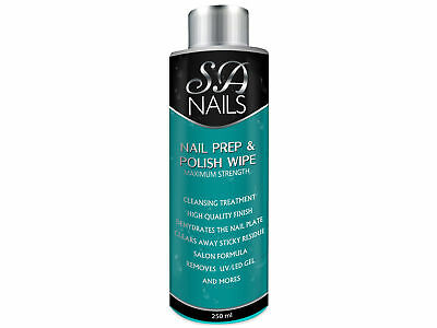 Sanail Nail Prep and Wipe Polish Remover Residue Cleaner UV LED Manicure 250ml