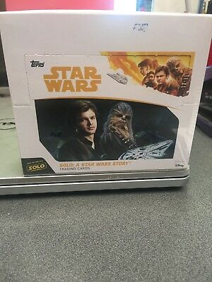 2018 Topps Solo: A Star Wars Story 24 Pack Sealed Retail Box