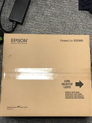 Epson PowerLite 955WH 3 LCD 3200 Lumens Projector BRAND NEW
