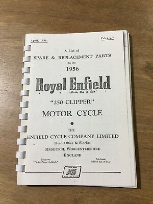 Royal Enfield 1956  250 Clipper Parts List [3-86]