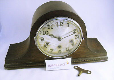 Napoleon's Hat, Vintage Mantel Clock, W/Chime, Working,  (WH_5171)