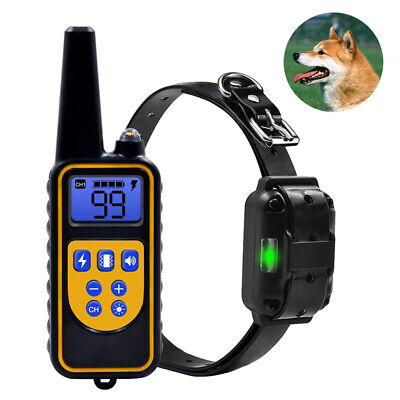 Anti Barking Collar Dog Training Device Control Rechargeable Electric Shock LED