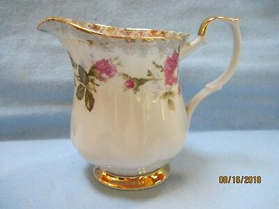 "Antique Chioziez Porcelain Creamer ""Pink Moss Rose"""
