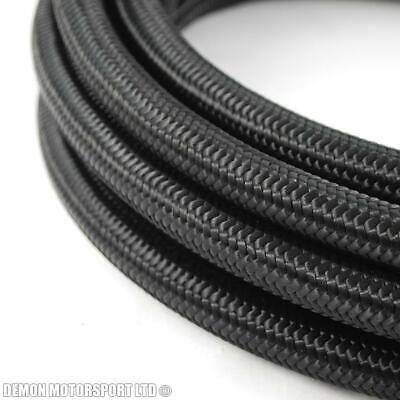 Black Nylon Braided Nitrile Hose (Select Size and Length) Fuel Oil Petrol Diesel