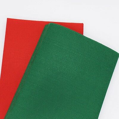 20 FELT SHEETS | Christmas Fabric DIY Crafts | Red & Green Xmas Felt
