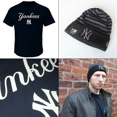 New York Yankees Licenced [Med or Large] MLB T shirt PLUS Knit Hat