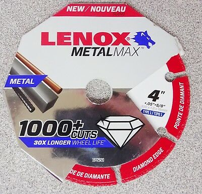 "Lenox Tools METALMAX Diamond Edge Cutoff Wheel, 4"" x 5/8"" 1972920"