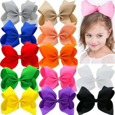 8 inches Large Grosgrain Ribbon Hair Bows With Alligator Clips For Big Teens