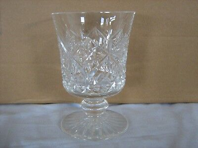 Heavy quality crystal glass footed goblet vase