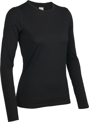 Icebreaker Oasis Long Sleeve LS Crewe Women Baselayer Shirt Langarm schwarz