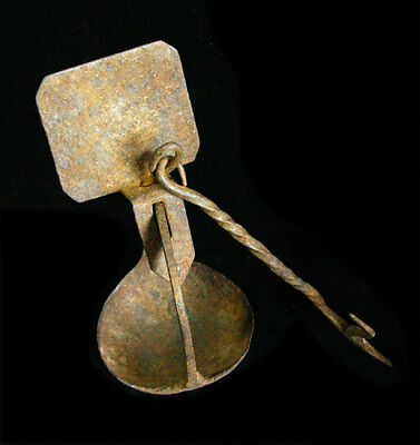 Antique Iron Very Old Miners Oil Lamp Lantern Light - More Estate Lamps Here!