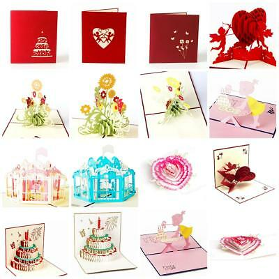 Happy Birthday Card 3D Pop Up Handmade Father's Day Greeting Cards Anniversary