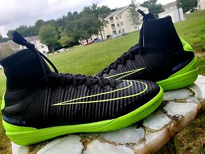 newest 45308 9a54a Nike MercurialX Proximo II IC Indoor Soccer Electric Green 831976-034 Sz 8.5