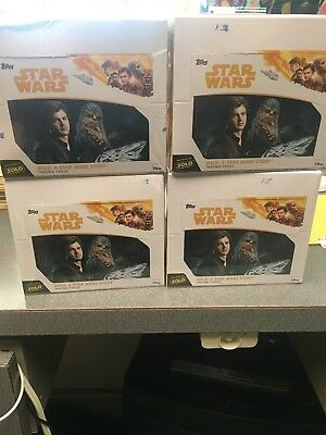 (4) 2018 Topps Solo: A Star Wars Story 24ct Factory Sealed Box