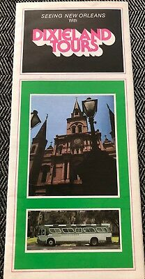 DIXIELAND TOURS See New Orleans Vintage 1980 Brochure French Quarter Parks More