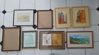JobLot of 8 Large Mixed Antique Vintage Retro Modern Picture Photo Frames