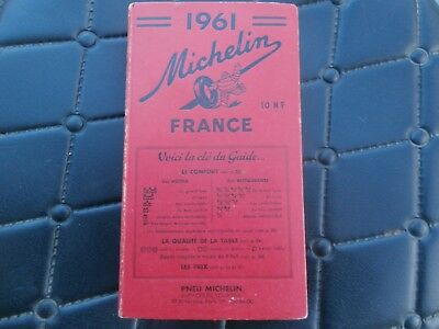Guide Rouge Collection Michelin 1961 france